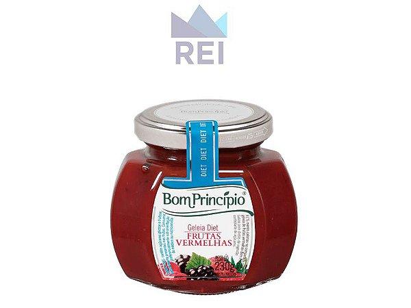 Geleia Diet Frutas Vermelhas 230g Bom Princípio
