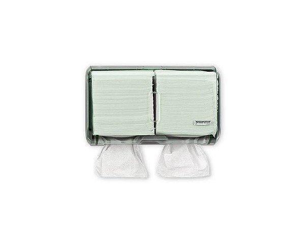 Dispenser Papel Toalha e Higiênico Cai cai Verde Premisse