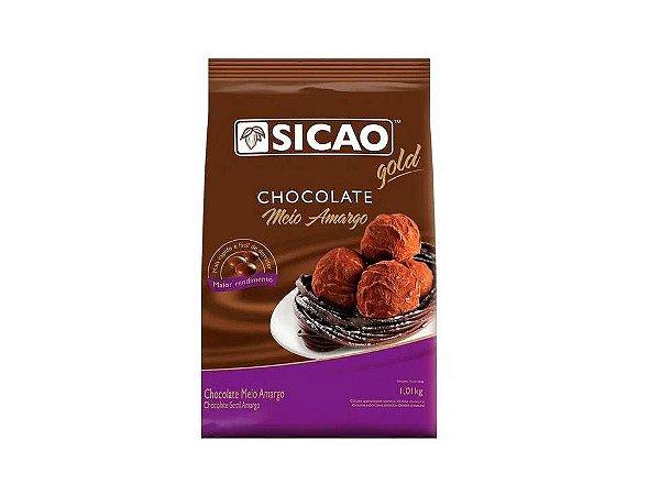 Chocolate em Gotas Meio Amargo 1,01Kg Sicao