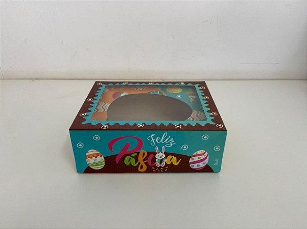 Caixa para Meio Ovo de Páscoa com colher Cacau Kids 350g