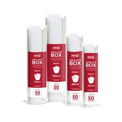 Box Branco 1.000ml com 50 unid. Vabene