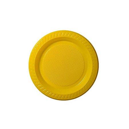 Prato descartável Amarelo 15cm pacote com 10 unid. Copobras