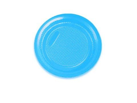 Prato descartável Azul Claro 15cm pacote com 10 unid. Copobras