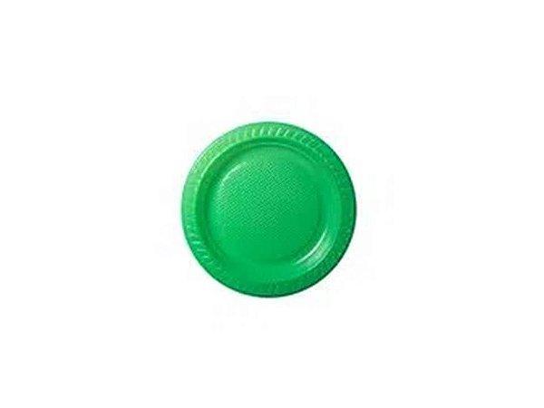 Prato descartável Verde 15cm pacote com 10 unid. Copobras