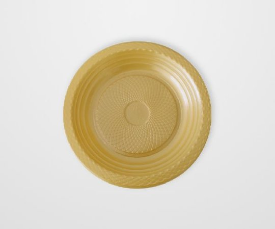 Prato descartável Dourado 15cm pacote com 10 unid. Copobras