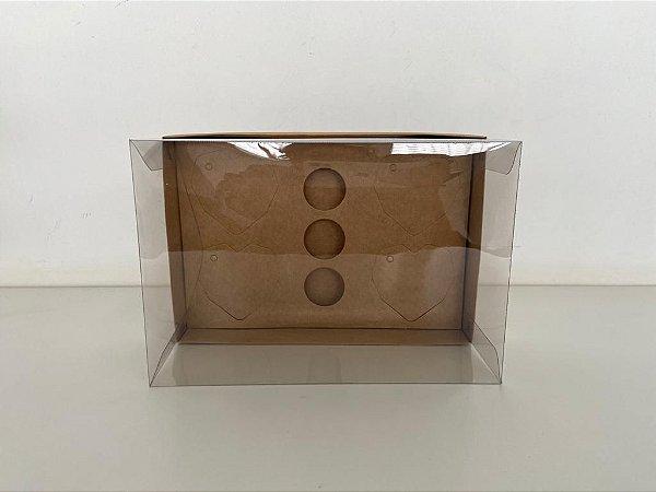 Caixa kraft Coração lapidado 4 de 65g + 6 doces