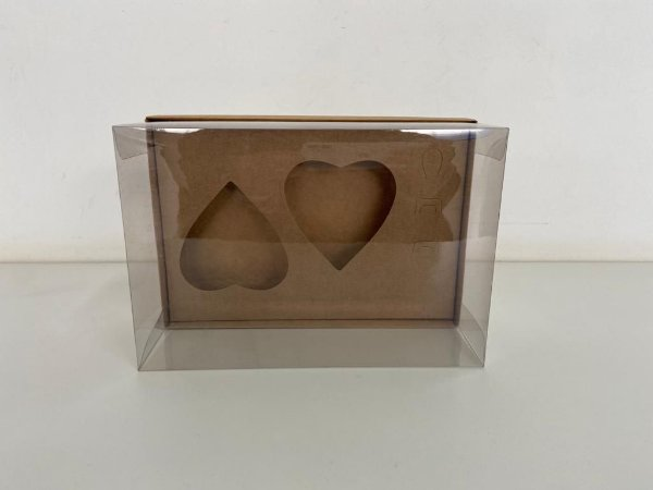 Caixa kraft Coração de colher 2 de 200g
