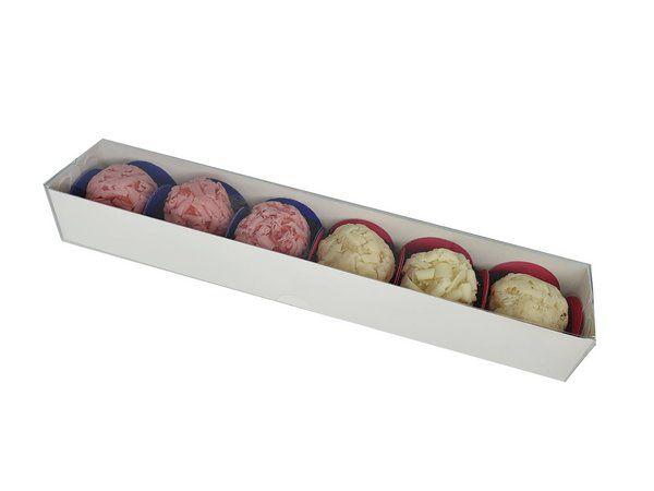 Caixa Branca Standart para 6 doces