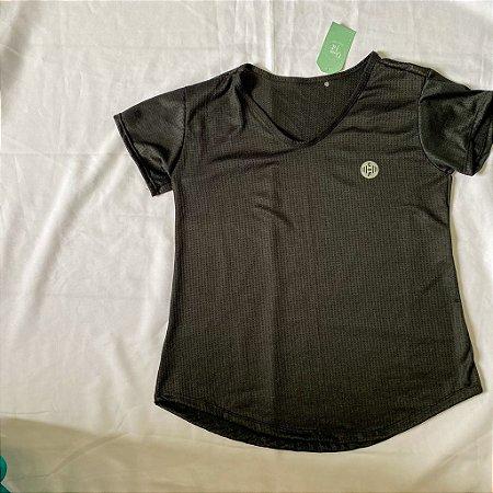 Blusa Poliéster Dry Fit Preta  | REF: 2.2.1111