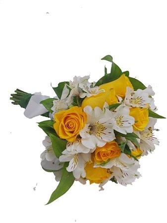 Buque de 12 Rosas Amarelas