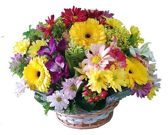 Arranjo de Flores do Campo e Gérberas