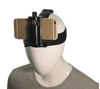 Suporte para Filmagem de Cabeça ajustável e Confortável