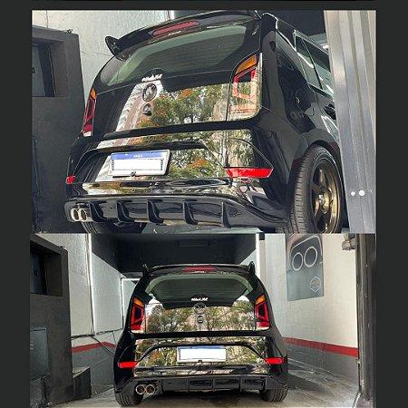 Difusor Spoiler VW UP saída lado Motorista em Y Black Piano