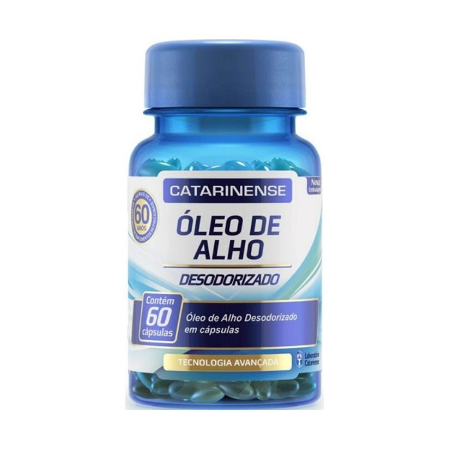 Óleo de Alho Desodorizado Catarinense 60 Cáps