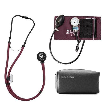 Kit P.A. Med Vinho All Black com Estetoscópio e Aparelho de pressão