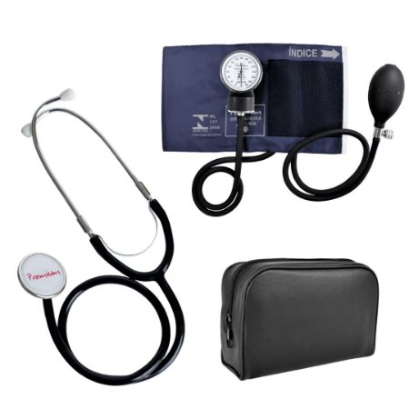 Kit Aparelho de Pressão Premium Adulto + Estetoscópio Simples Premium