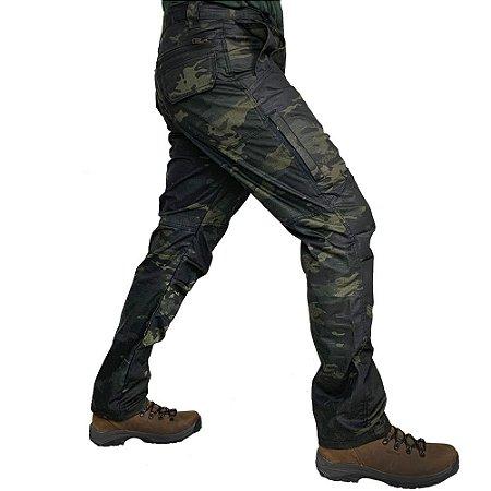 Calça Masculina B10 Camuflada Multicam Black Bélica