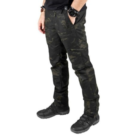 Calça Masculina Multiforce Camuflada Multicam Black Bélica