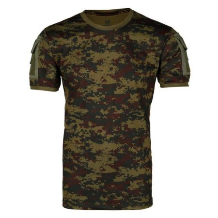 Camiseta Tática Masculina Ranger Camuflada Digital Argila Bélica