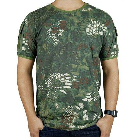 Camiseta Tática Masculina Ranger Camuflada Mandrake Bélica