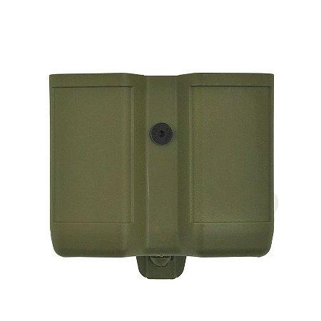 Porta Carregador Duplo Cinto Clip Bélica - Verde