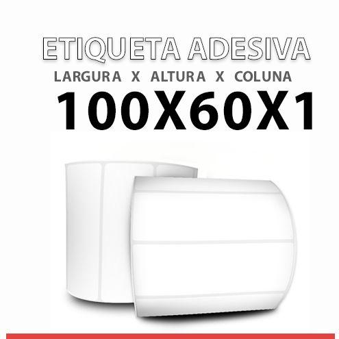 ROLO ETIQUETA COUCHE ADESIVA 100X60x1 MM