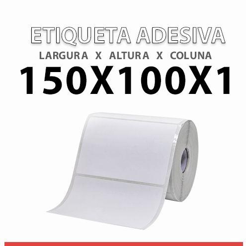 ROLO ETIQUETA BOPP ADESIVA 150X100x1 MM
