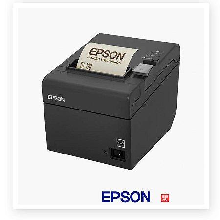 Impressora Não Fiscal Térmica Compacta Epson TM-T20 com Guilhotina - Serial