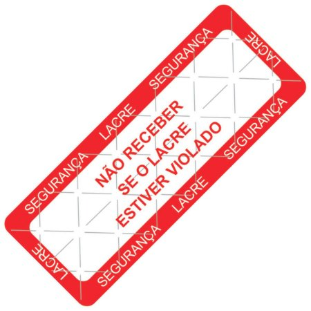 Etiqueta de Lacre - Linha Delivery 100x40x1 mm