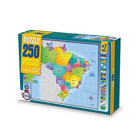 Puzzle Mapa do Brasil - 250 Peças