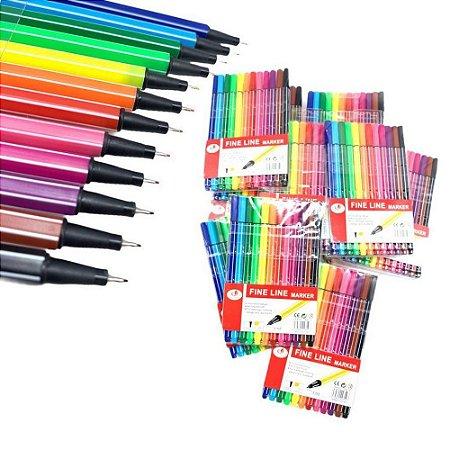 Caneta Fine Liner Marker 12 cores