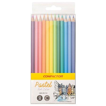 Lápis de Cor Pastel 12 cores COMPACTOR