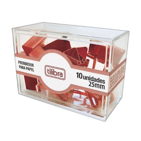 Prendedor para Papel 25 mm Rose Gold TILIBRA