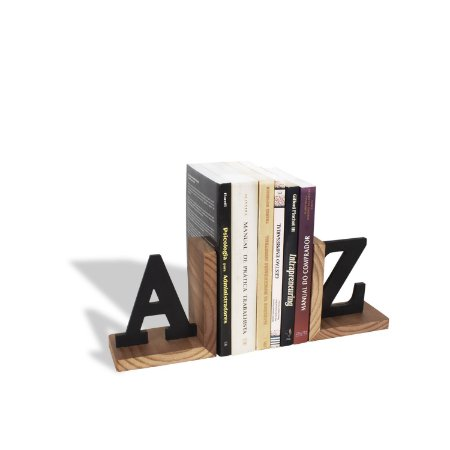 Porta Livros AZ Preto