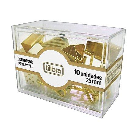 Prendedor para Papel 25 mm Dourado TILIBRA
