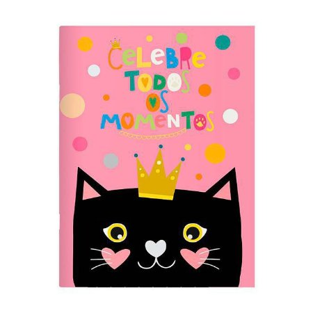 Caderno Planner Mensal Gatos