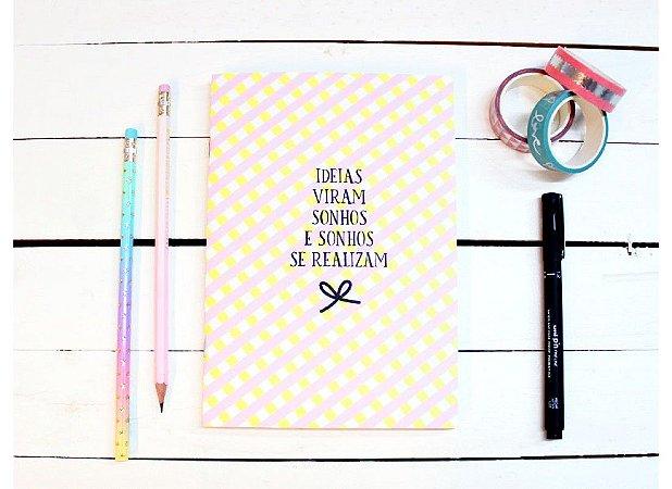 Caderno Flex Pequeno Ideias Viram Sonhos - Pontilhado