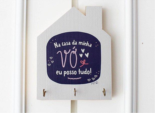 Porta Chaves Casinha Na Casa Da Minha Vó Posso Tudo!