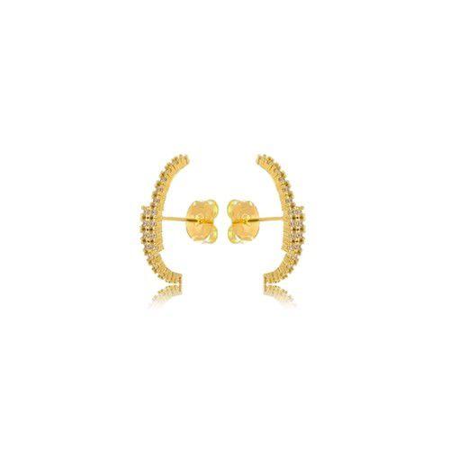 Brinco Cravejado Ear Hook Micro Zirconia