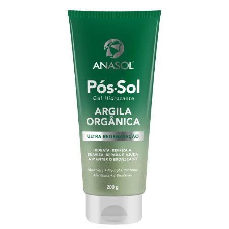 Anasol Gel Hidratante Pós-sol Com Argila Orgânica 200g