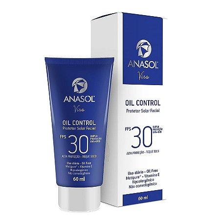 Anasol Protetor Solar Facial Oil Control FPS 30 60ml