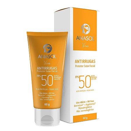 Protetor Solar Facial Antirrugas FPS 50 - Anasol Viso