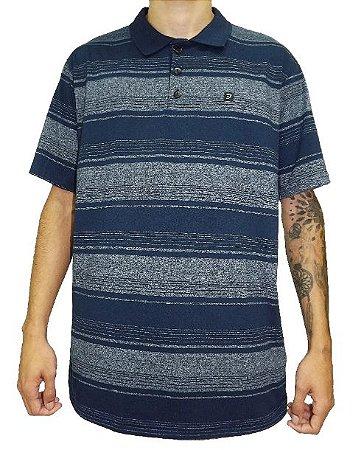 Camisa Gola Polo Azul Listras