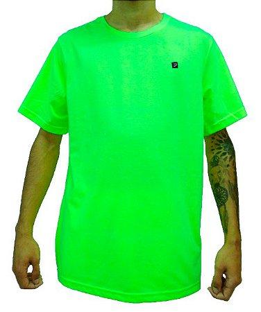 Camiseta Logo Etiqueta Neon
