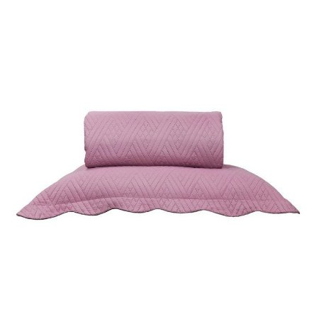 Kit Cama Acetinado Ultrassonic Tramas Queen Rosa