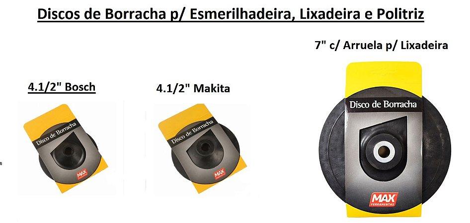 Discos de Borracha p/ Esmerilhadeiras e Lixadeiras (Vendidos separadamente)
