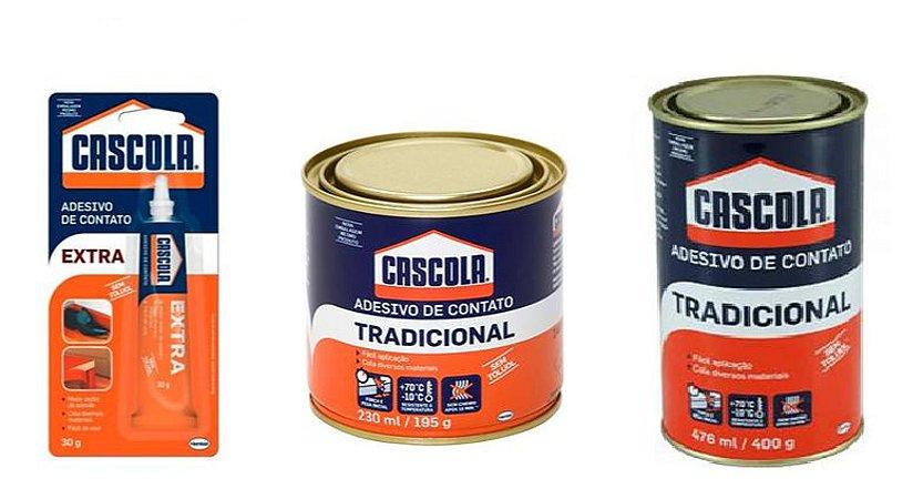 Cascola Tradicional 30g, 195g ou  (Cola de contato) sem Toluol