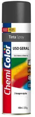 Tinta Spray Preto Brilhante 400ml/250g