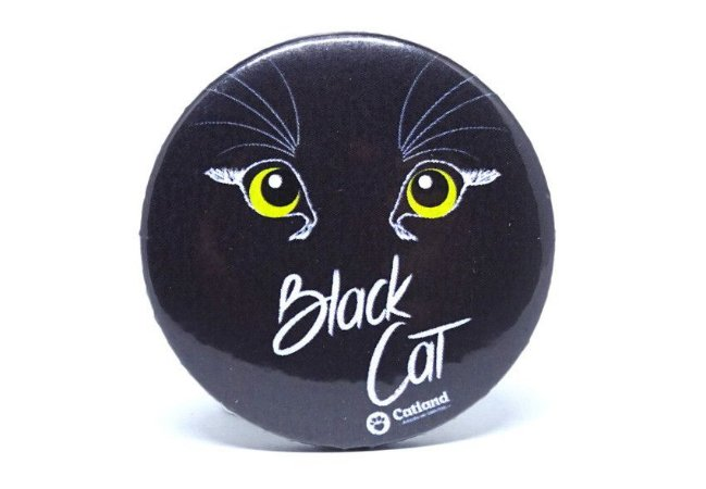 Botton Black Cat
