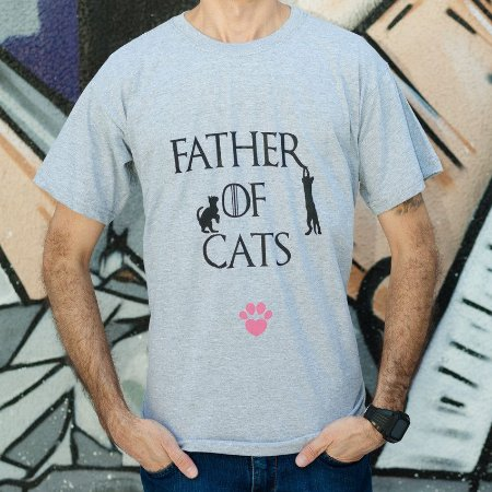 Camiseta Father of Cats